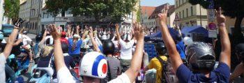 Treffen auf dem Bürgerfest in Ingolstadt